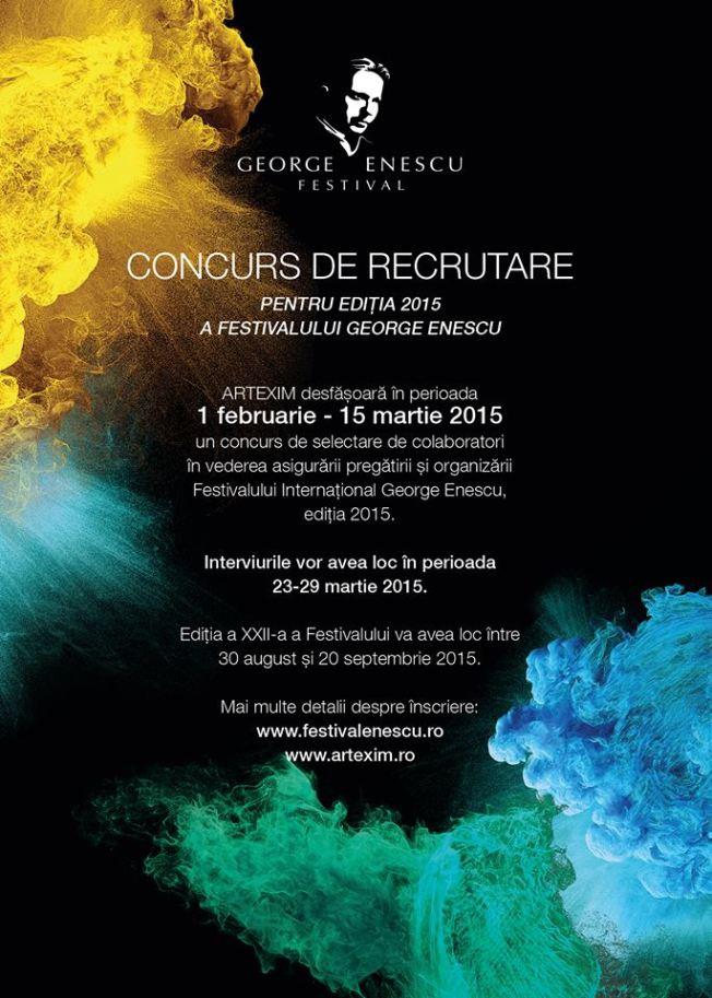 Concurs de recrutare - Festivalul George Enescu